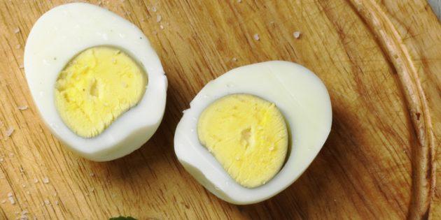 здоровый завтрак: яйца вкрутую