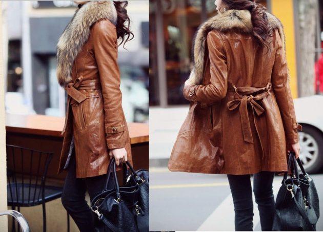 Как почистить кожаное пальто