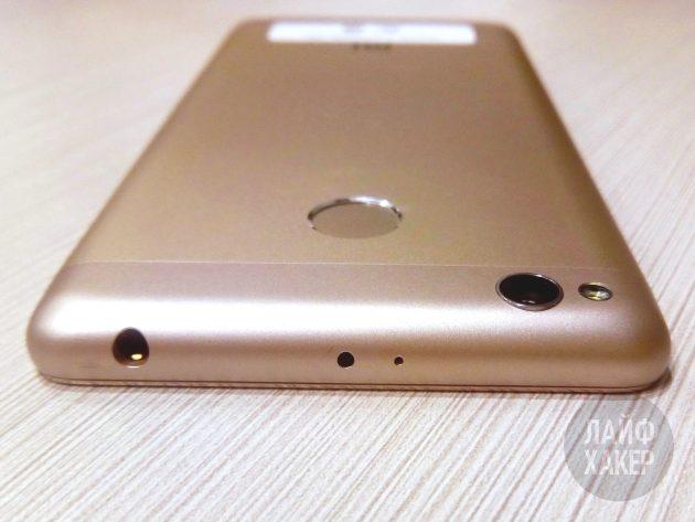Xiaomi Redmi 3s: разъёмы