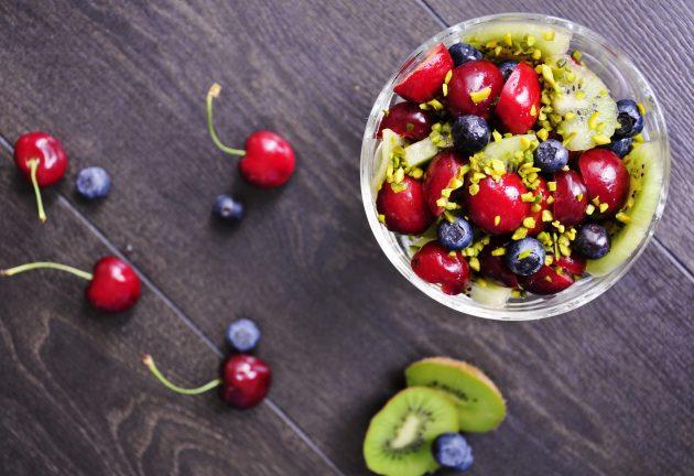 здоровый завтрак: фруктовый завтрак