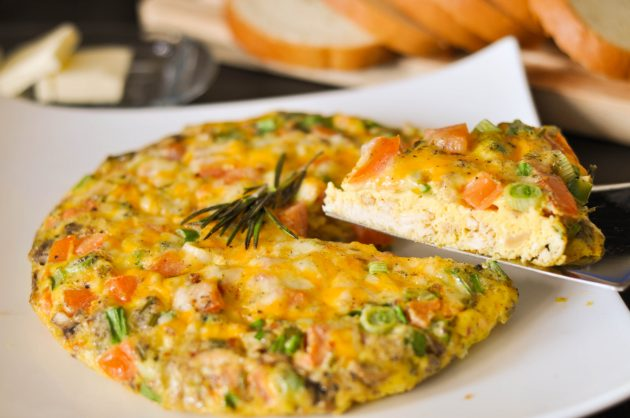 здоровый завтрак: фриттата с грибами
