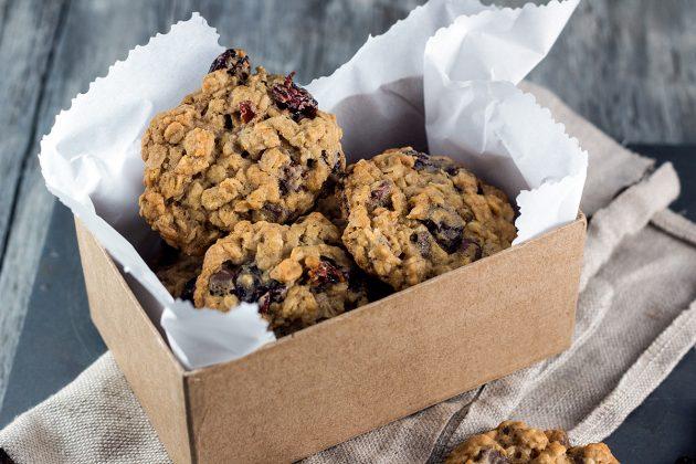 здоровый завтрак: ореховое печенье