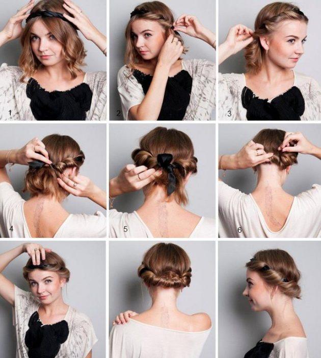 Простые причёски: греческий узел