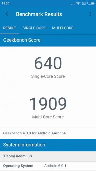 Xiaomi Redmi 3s: производительность