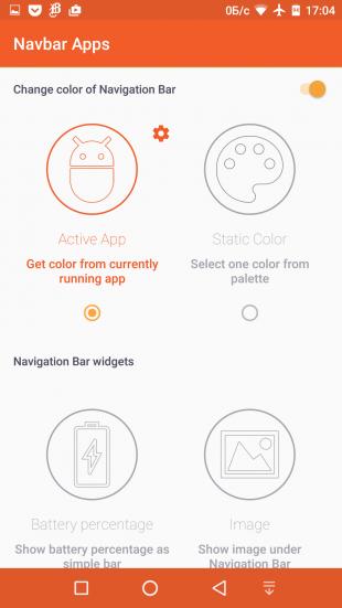 навигационная панель Navbar Apps options