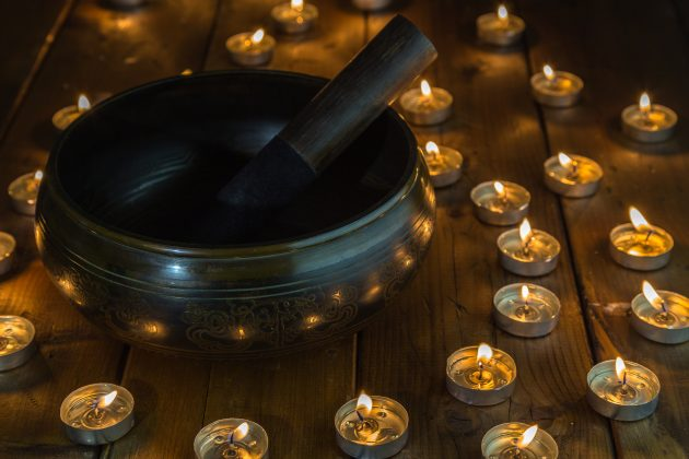 воздействие музыки: тибетская чаша