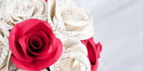 4 способа сделать розу из бумаги