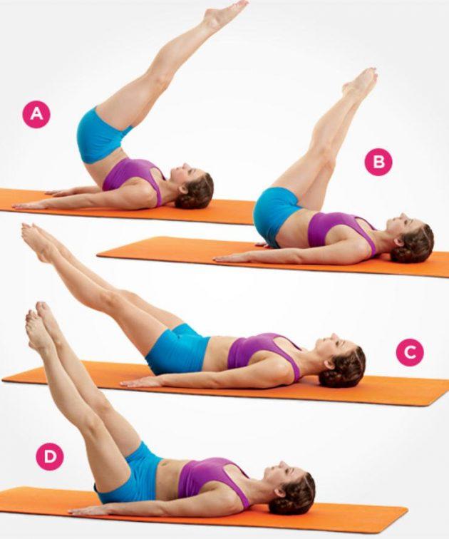 упражнения из пилатеса для плоского живота штопор