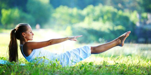 9 упражнений пилатеса для идеально плоского живота