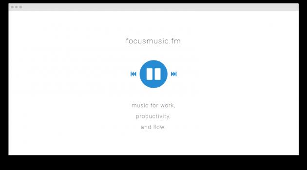 музыка для продуктивной работы Focusmusic.fm screen