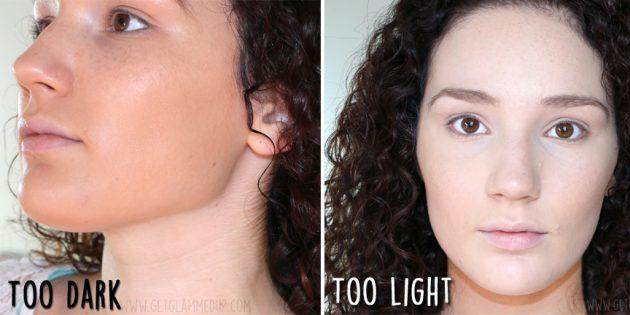 ошибки в макияже: тон