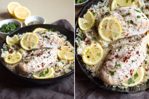Как приготовить рис с курицей на сковороде: украсьте готовое блюдо кружочками лимона