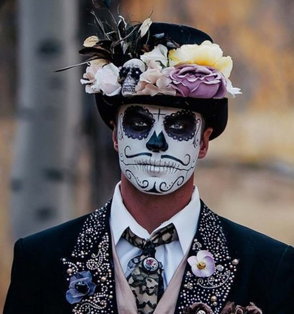 Men halloween makeup