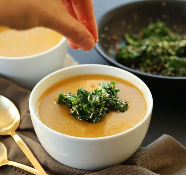 Что приготовить из тыквы: суп-пюре с тыквой и сухариками