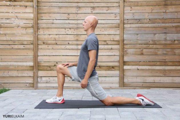 как исправить сутулость: передние мышцы бедра