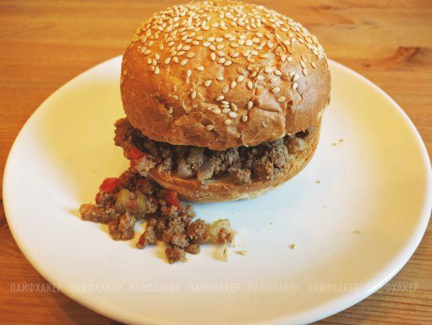 неряха джо: готовый бургер