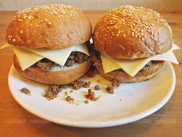неряха джо: два бургера