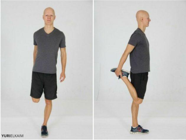 как исправить сутулость: четырехглавая мышца бедра
