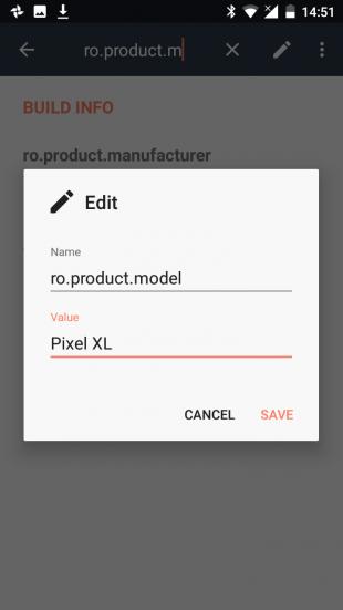 Pixel XL BuildProp Editor Pixel