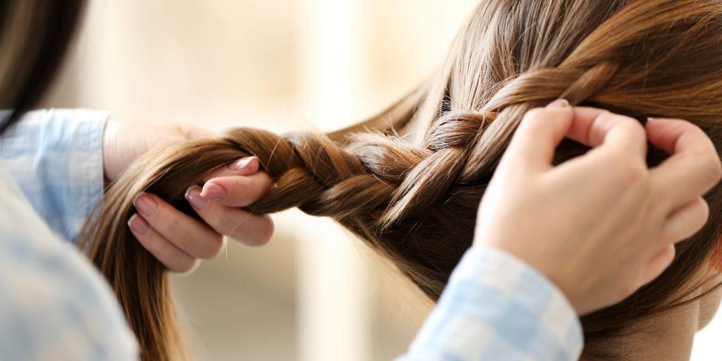 Простые косы в школу
