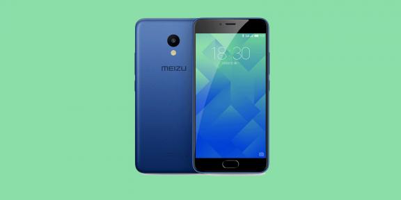 Meizu представила M5 — ультрабюджетный смартфон за 100 долларов