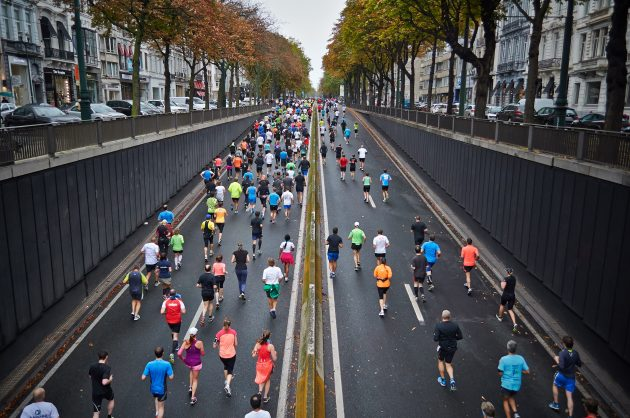 как пробежать марафон: перекус
