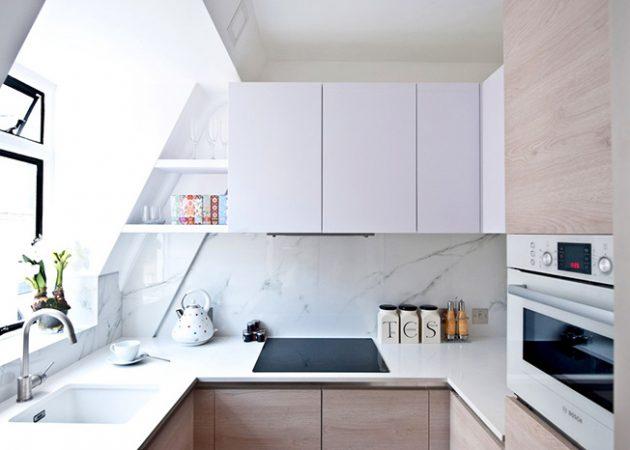 Дизайн маленькой кухни: П-образная планировка