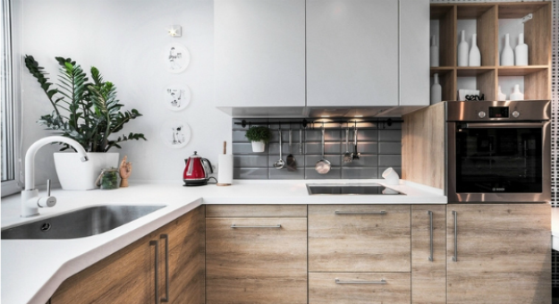 Дизайн маленькой кухни: отказ от техники