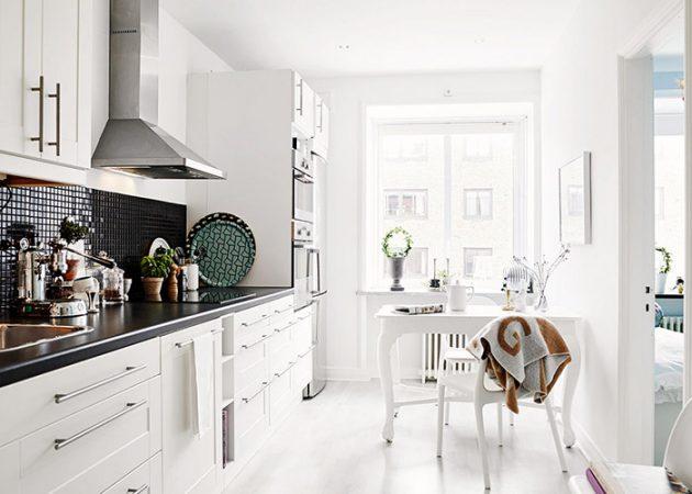 Дизайн маленькой кухни: линейная планировка