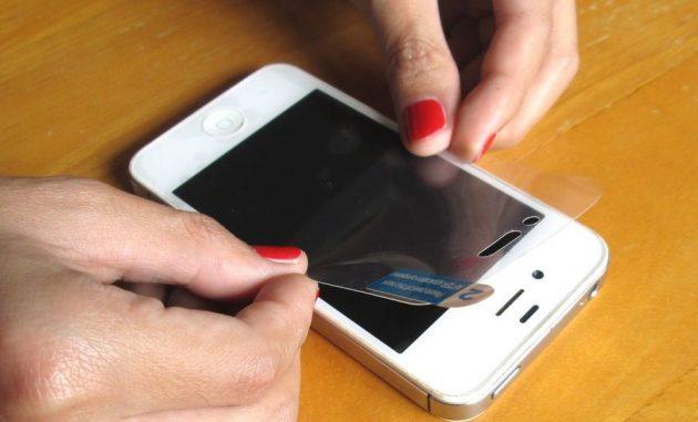 Как сделать защитную пленку для телефона фото 632