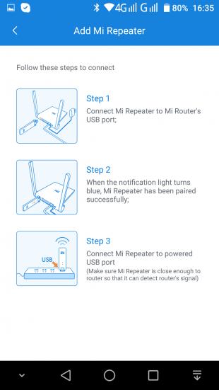 MiWiFi Router: Добавление Mi WiFi Amplifier