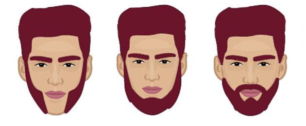 Борода для лица перевернутый треугольник
