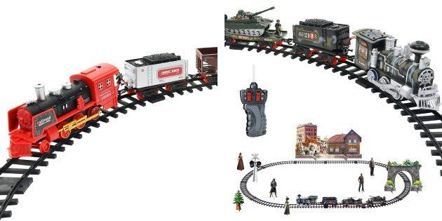 Что подарить мальчику на новый год: Игрушечная железная дорога