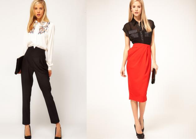 Как убрать бока с помощью одежды: платья, юбки и брюки с завышенной талией