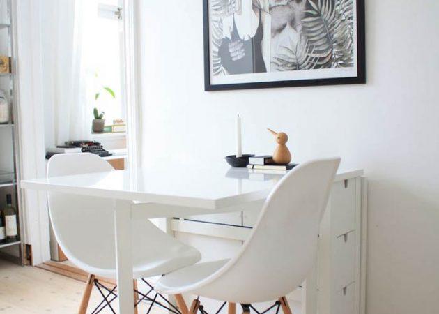 Дизайн маленькой кухни: фото столов