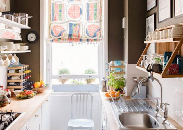 Дизайн маленькой кухни: двухрядная планировка