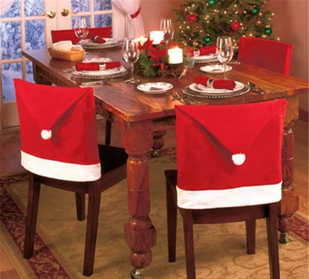 новогодние товары: чехлы для стульев