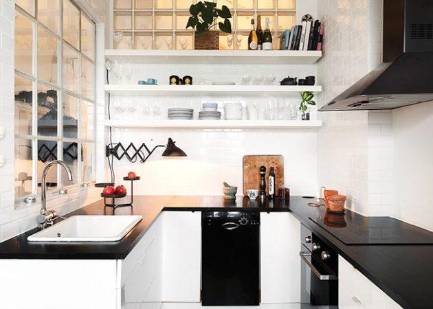 Дизайн маленькой кухни: освещение