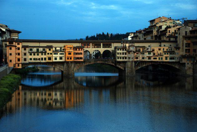 красивые мосты: Понте Веккьо, Италия