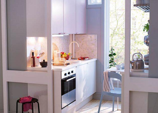 Дизайн маленькой кухни: цвета