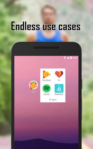 Contextual App Folder: endless use cases