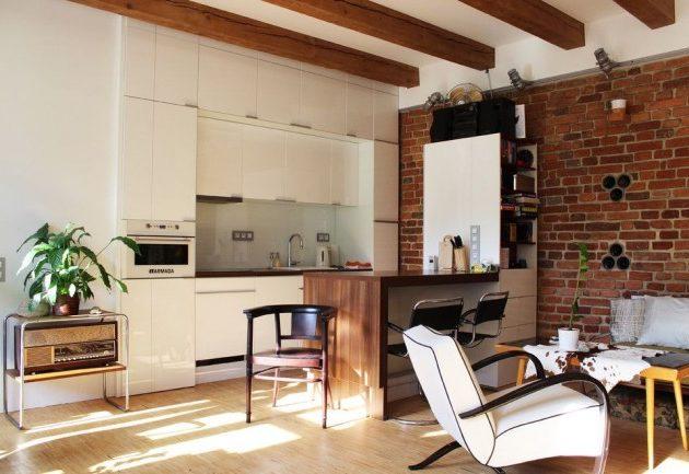 Дизайн маленькой кухни: студия