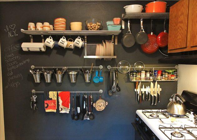 Дизайн маленькой кухни: подвесные системы