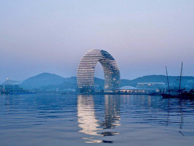 китайская архитектура: Отель «Шератон» в городе Хучжоу