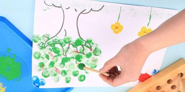Подарки детям на новый год: Рисование штампами