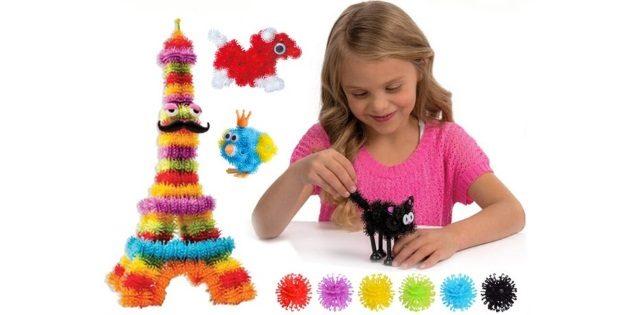 Подарки девочке на новый год: Набор мохнатых липучих шариков