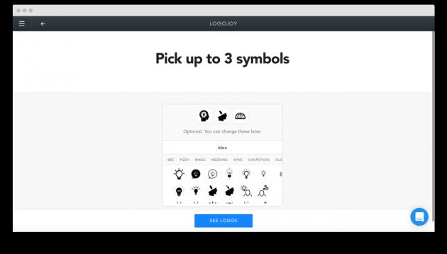 Logojoy: выбор графического элемента