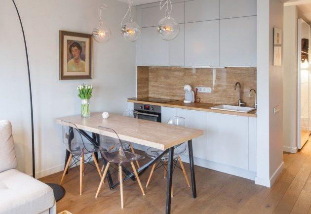 Дизайн маленькой кухни: фото мебели