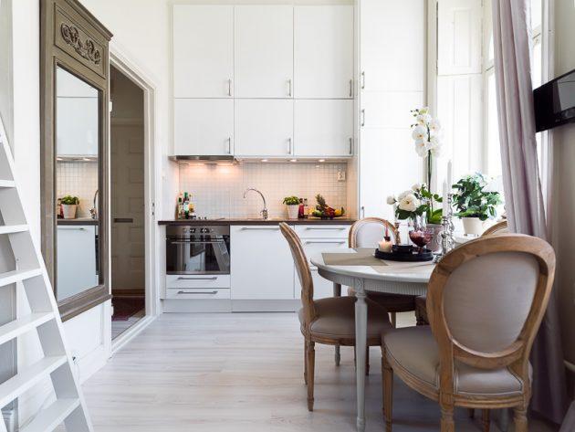 Дизайн маленькой кухни: незаметная вытяжка