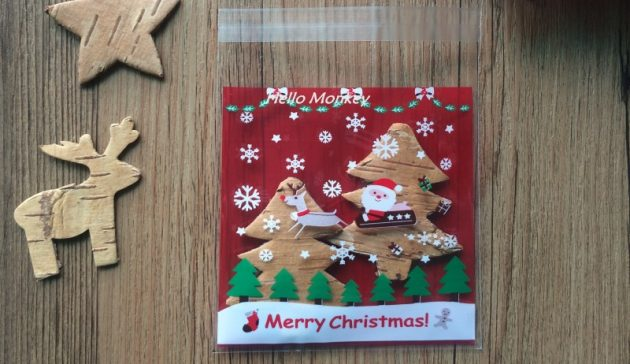 новогодние товары: целлофановые пакеты